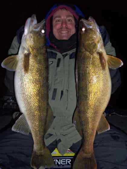 Sturgeon Bay Walleyes by Night