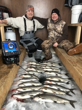 Door County Ice Fishing Whitefish