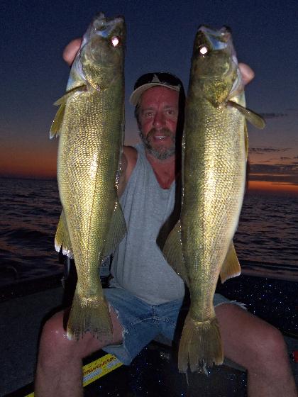 Summer fishing Door County WI