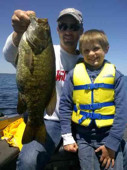 fishing Sturgeon Bay Smallmouth Bass