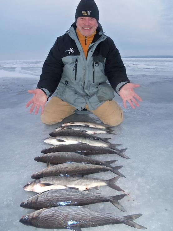 Ice fishing report for door county bay of green bay late for Door county fishing report