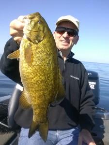 Fishing Door County Smallmouth Bass fishing