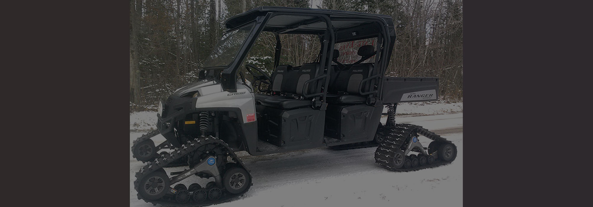 Ice Fishing in Door County, WI with Guide and All Terrain Ice Transport Vehicle